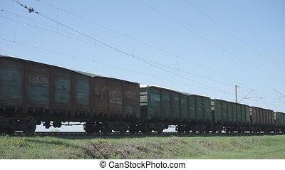 train cargaison, hd, récupérations directes