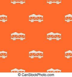 Train cargo wagon pattern seamless
