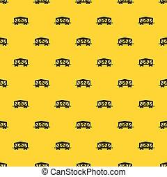 Train cargo wagon pattern vector