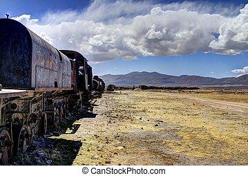 Train Cemetery, Uyuni Bolivia