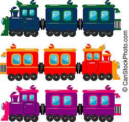 Train - Vector trains over white. EPS 8, AI, JPEG