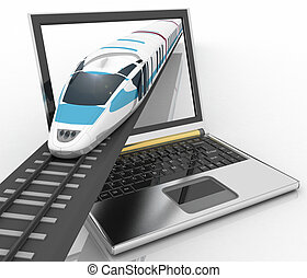 Train coming out of a laptop - Train coming out of a laptop....