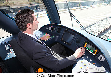 train, conducteur