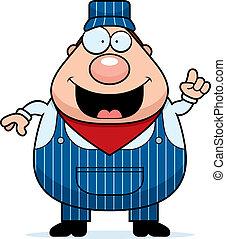 Train Conductor Idea - A cartoon train conductor with an...