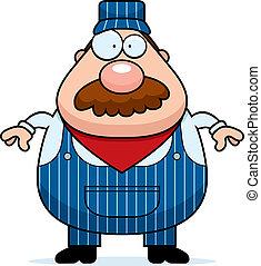 Train Conductor Mustache