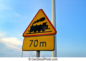 Train crossing Sign