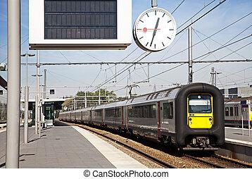 train, départ