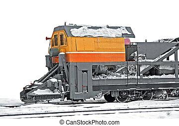 train, déplacement neige