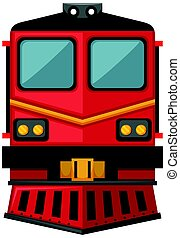 Train design in red color