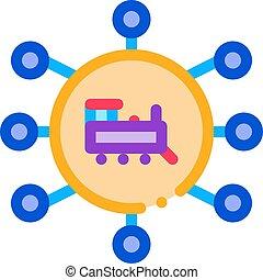 train direction icon vector outline illustration