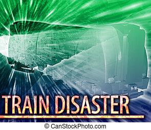 Train disaster Abstract concept digital illustration