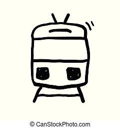 Train Doodle Vector