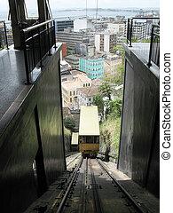 Train elevator in Salvador da Bahia. Brazil. Plano Goncalves