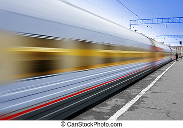 train, en mouvement