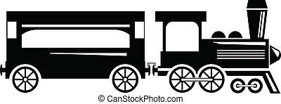 Train engine and wagon