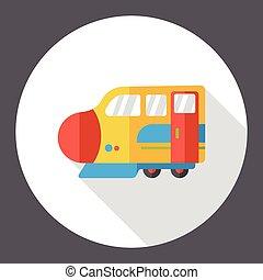 train flat icon