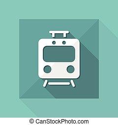 Train flat vector icon