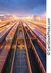 Train Freight transportation platform - Cargo transit