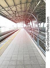 train grande vitesse, station, thailand.
