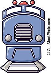 Train icon, cartoon style