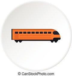 Train icon circle