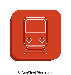 train icon design, vector illustration