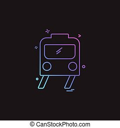 Train icon design vector
