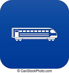 Train icon digital blue