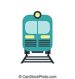 Train icon flat