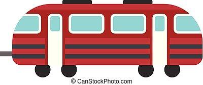 Train icon, flat style