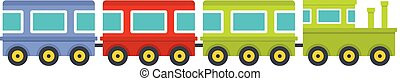 Train icon, flat style.