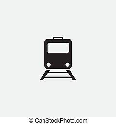 Train icon - flat vector