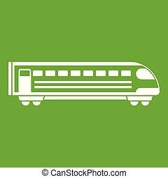 Train icon green