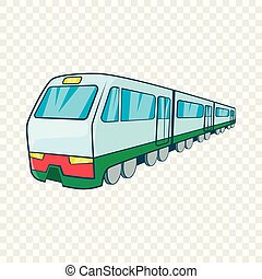 Train icon in cartoon style