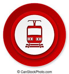 train icon, public transport sign
