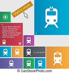 train icon sign. buttons. Modern interface website buttons with cursor pointer. Vector