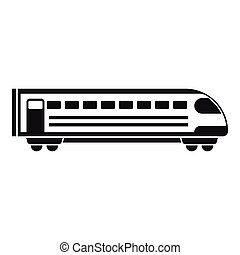 Train icon, simple style