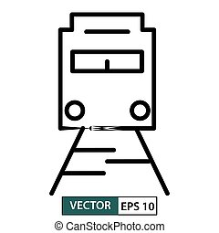 Train icon, symbol, flat design isolated on white. Vector illustration EPS 10