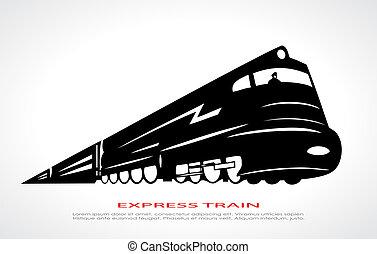 Train icon - Train vector icon