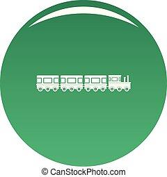 Train icon vector green