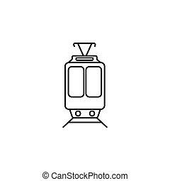Train icon. vector illustration black on white background