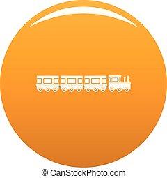Train icon vector orange