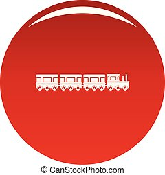 Train icon vector red