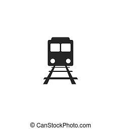 Train illustration logo vector
