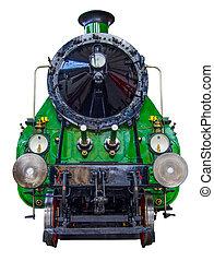 train, isolé, vapeur