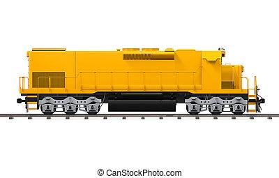 train, jaune, fret