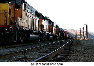 train, jaune