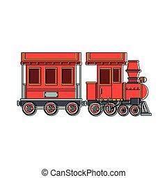 train, jouet, dessin animé