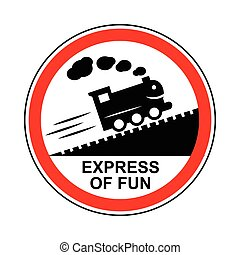 Train journey sign icon, simple style - Train journey sign...