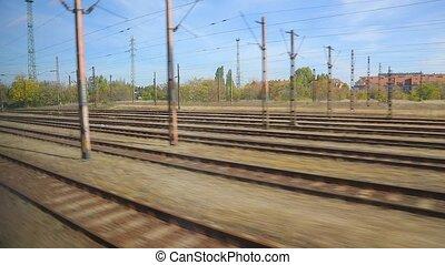 Train journey window view